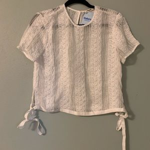 Madewell White Lace Top Small